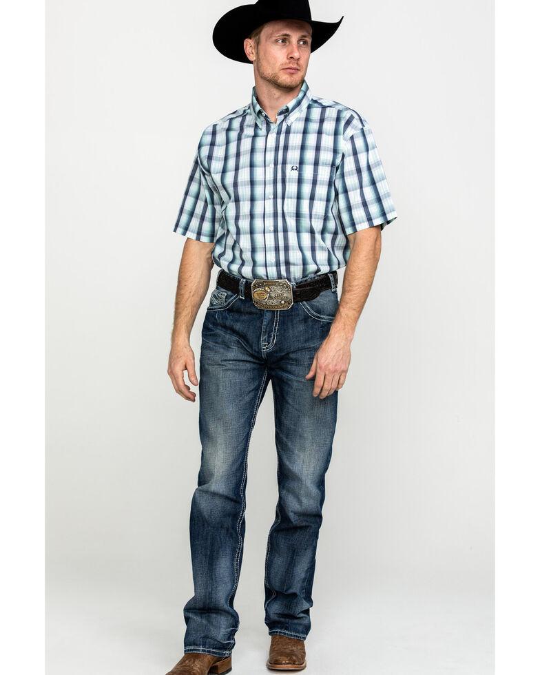 Cinch Men's Multi Large Plaid Button Short Sleeve Western Shirt  , Multi, hi-res