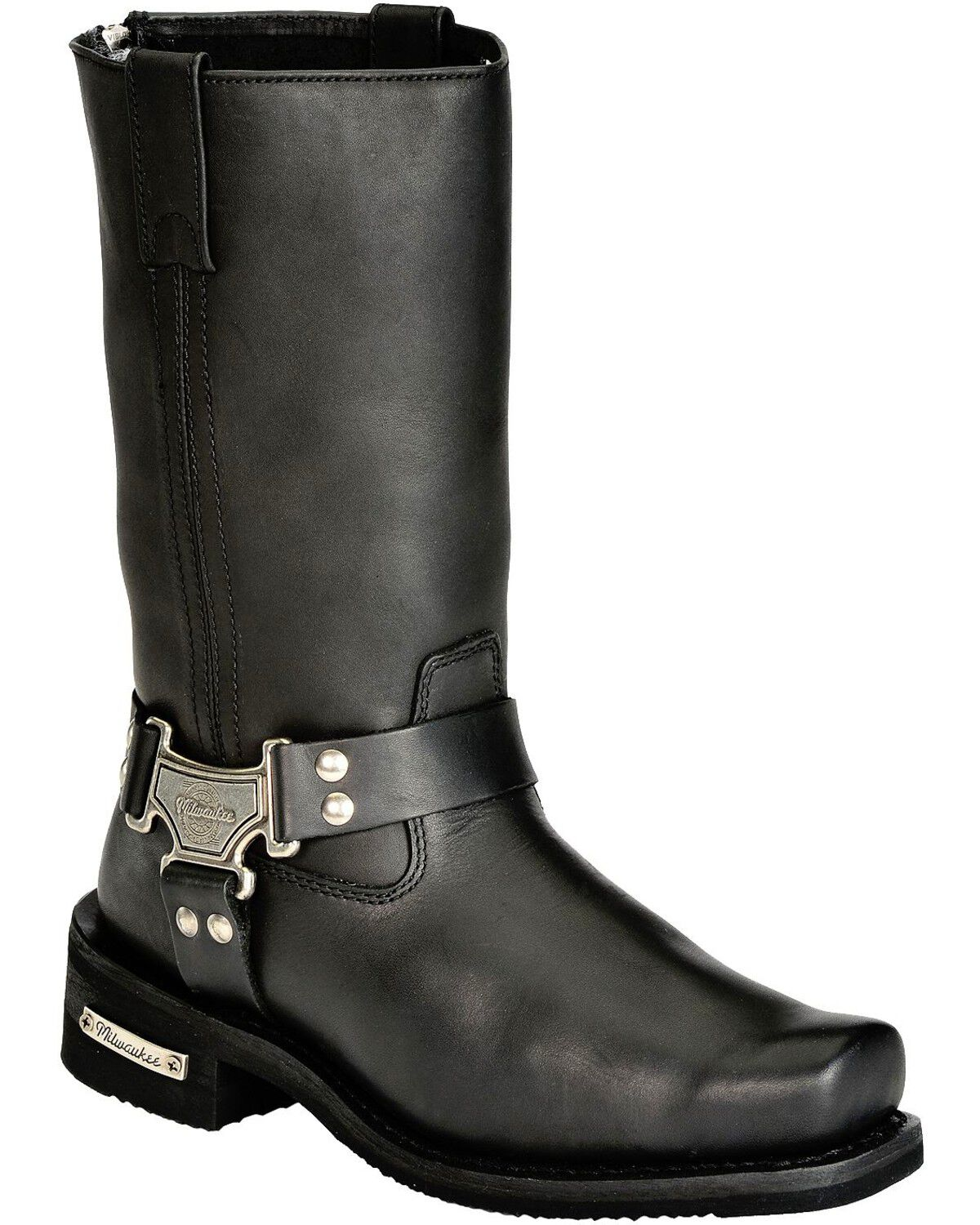 Black, Size 11.5EE Milwaukee Motorcycle Clothing Company Mens Outlaw Motorcycle Boots