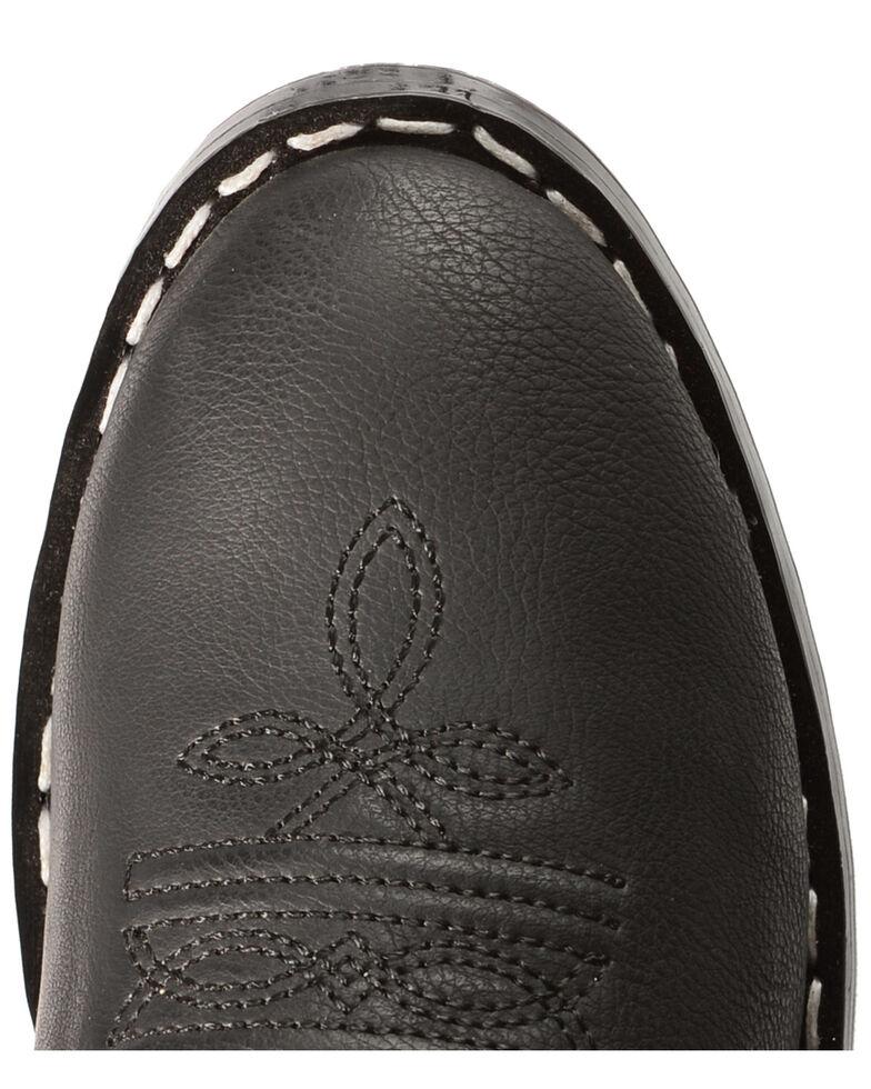 Swift Creek Boys' Black Cowboy Boots - Round Toe, Black, hi-res