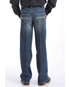Cinch Boys' Carter Medium Stone Slim Boot Jeans , Indigo, hi-res