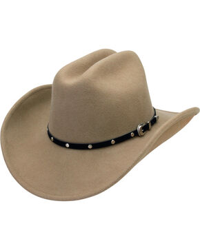 Silverado Men's Crushable Wool Cattleman Crown Hat, Putty, hi-res