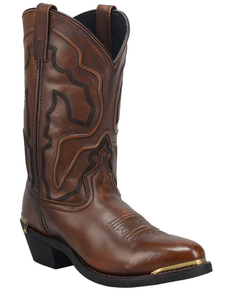 Laredo Men's Atlas Western Boots - Round Toe, Tan, hi-res