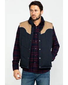 Moonshine Spirit Men's Gold Digger Puffer Vest , Navy, hi-res
