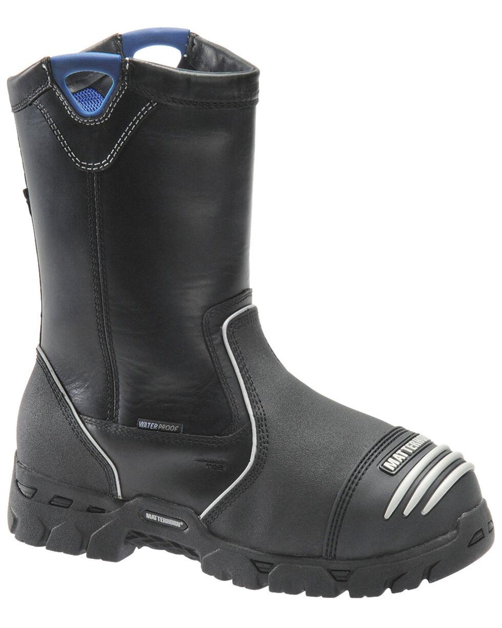 Matterhorn Men's Insulated Wellington Work boots - Composite Toe, Black, hi-res