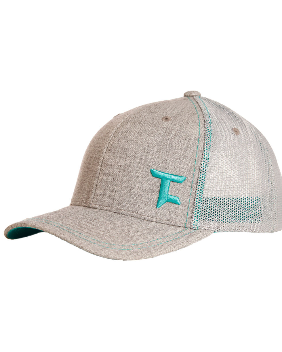 Tuf Cooper Men's Teal Logo Mesh Cap, Grey, hi-res