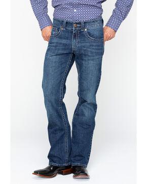 Wrangler Rock 47 Men's Jamboree Slim Boot Cut Jeans, Blue, hi-res