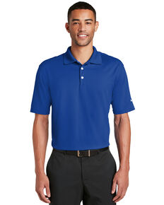 Nike Golf Men's Blue Sapphire Dri-Fit Micro Pique Short Sleeve Work Polo Shirt - Tall , Blue, hi-res