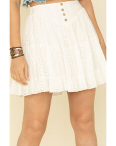 By Together Women's Off White Flounce Skirt , Off White, hi-res