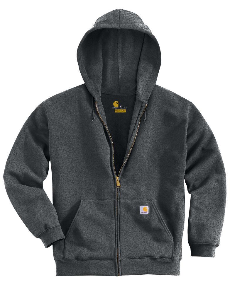 Carhartt Men's Midweight Hooded Pullover Sweatshirt, Charcoal Grey, hi-res