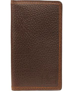 M&F Men's HD Xtreme Work Rodeo Wallet and Checkbook Cover, Brown, hi-res