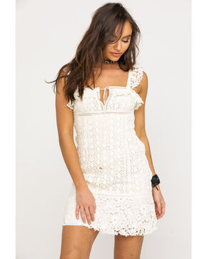Free People Cross My Heart Mini Dress, Ivory, hi-res