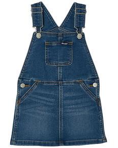 Wrangler Toddler Girls' Denim Overall Dress, Blue, hi-res