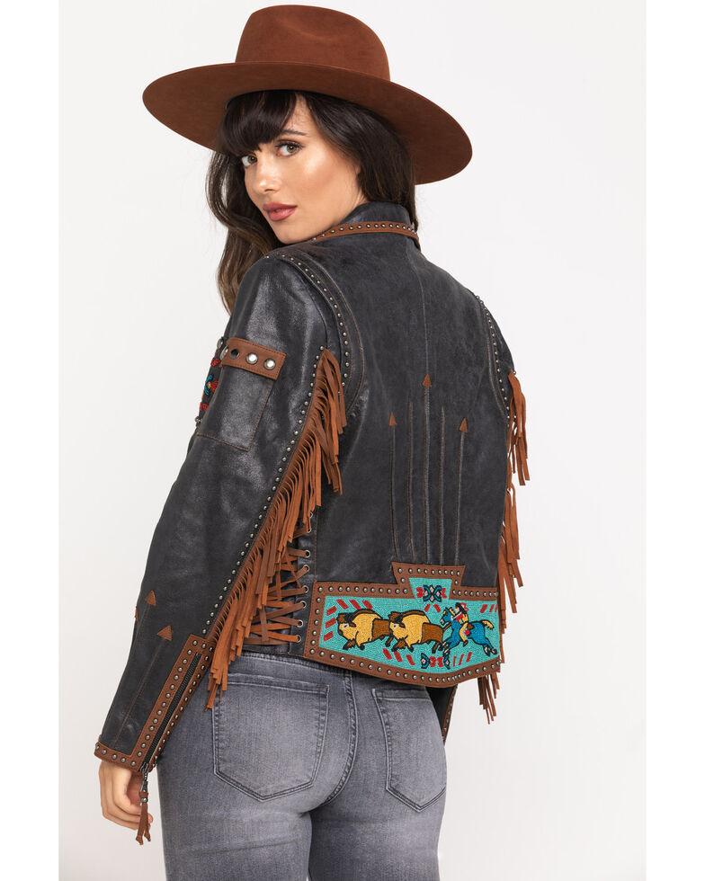 Double D Ranchwear Women's Black Buffalo Chase Jacket, Black, hi-res