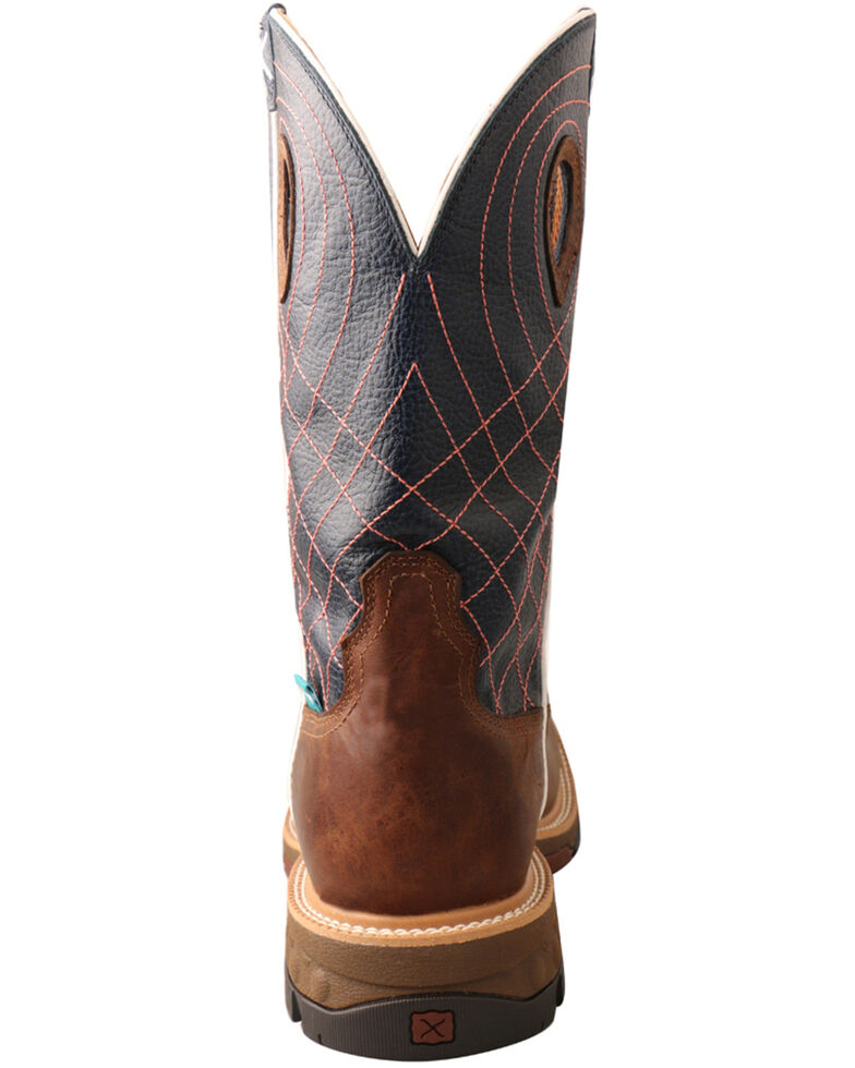 Twisted X Men's Waterproof CellStretch Western Work Boots - Alloy Toe, Brown, hi-res