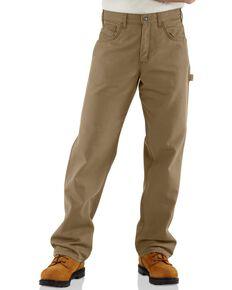 Carhartt Men's Flame-Resistant Relaxed Fit Work Pants, Khaki, hi-res