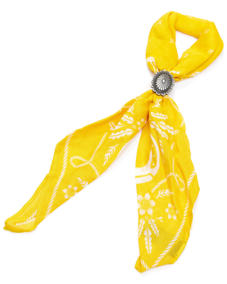 Idyllwind Women's Yellow From The West Bandana Necklace, Yellow, hi-res