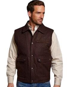Cripple Creek Men's Wool Melton Vest, Brown, hi-res