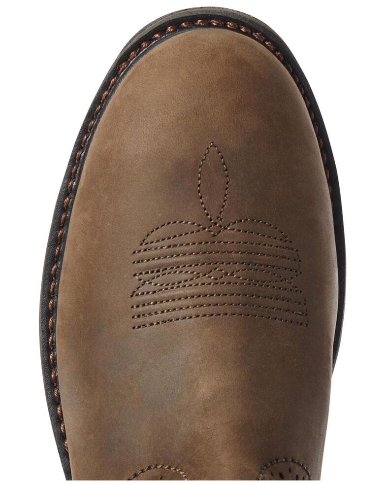 Ariat Men's Waterproof Workhog Western Work Boots - Composite Toe, Brown, hi-res