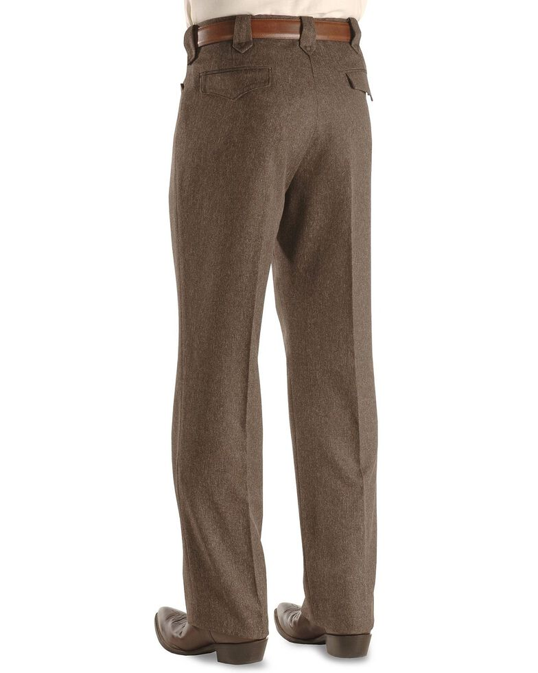 Circle S Men's Heather Ranch Dress Pants, Hthr Chestnut, hi-res