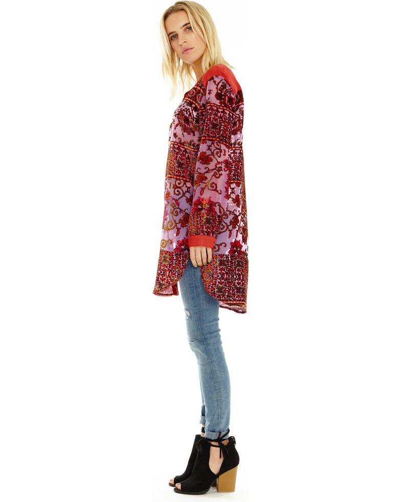 Aratta Women's Velvet Violet Tunic, Violet, hi-res