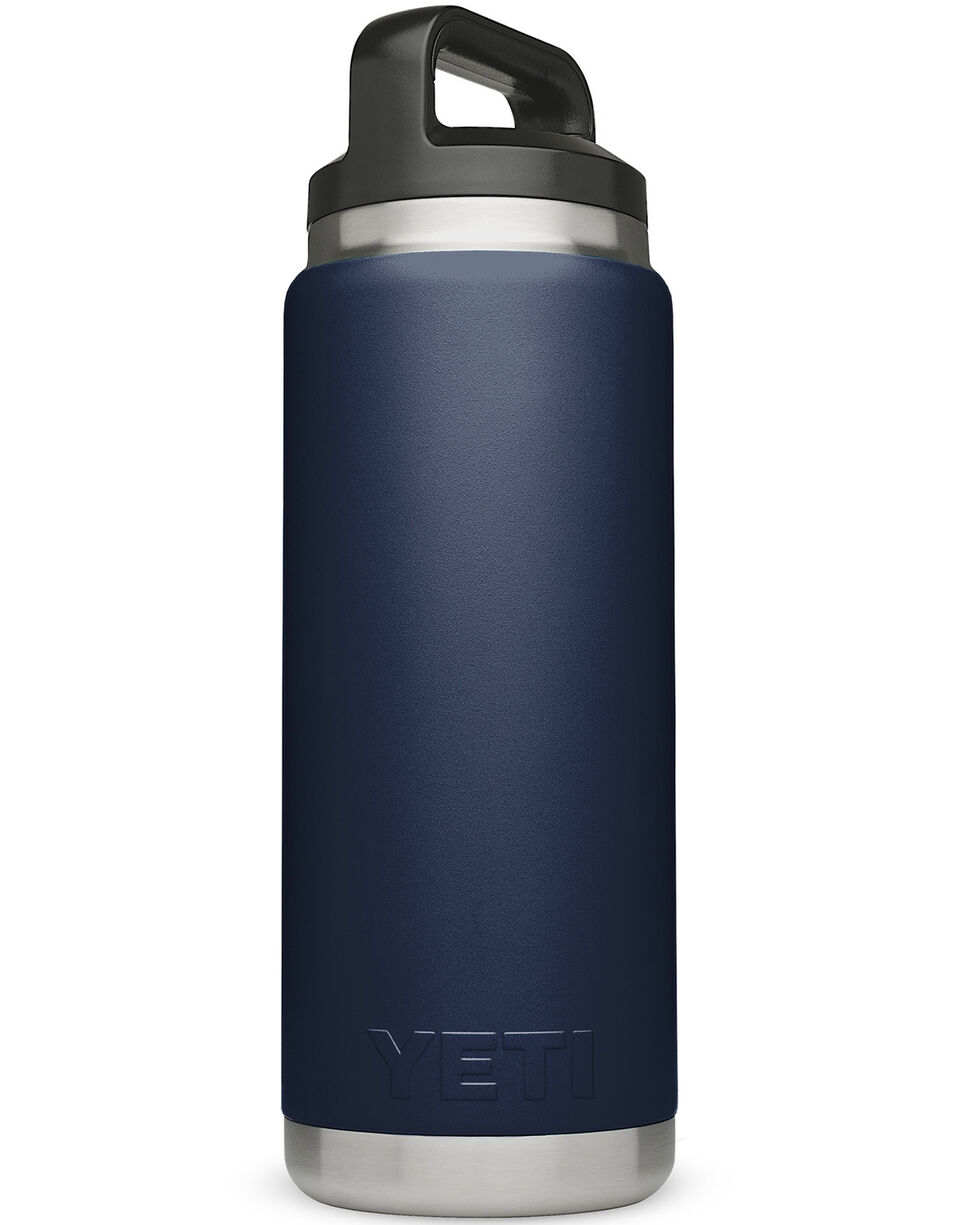 Yeti 26oz Navy Rambler Bottle, Navy, hi-res