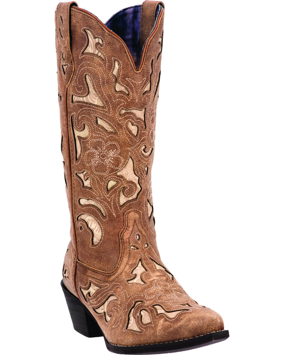 Laredo Women's Sharona Fashion Boots, Tan, hi-res