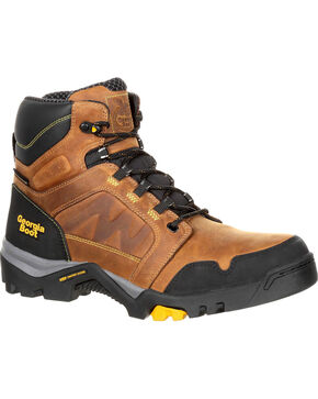 Georgia Boot Men's Amplitude Waterproof Work Boot, Brown, hi-res