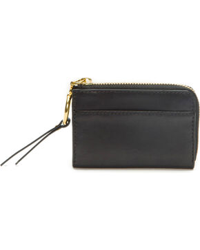 Frye Women's Small Ilana Harness Zip Leather Wallet , Black, hi-res