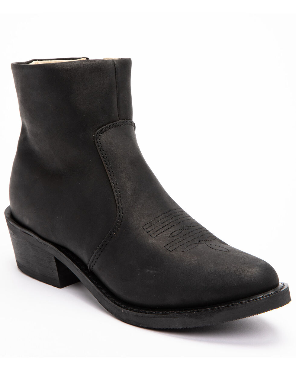 Durango Men's Side Zipper Western Boots, Black, hi-res
