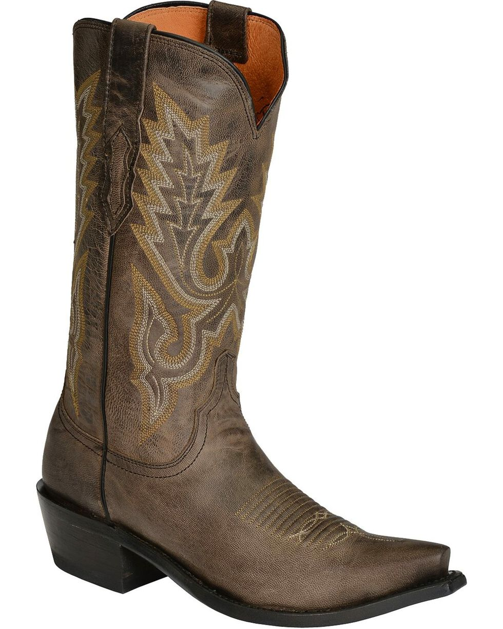Lucchese Men's Western Boots, Grey, hi-res