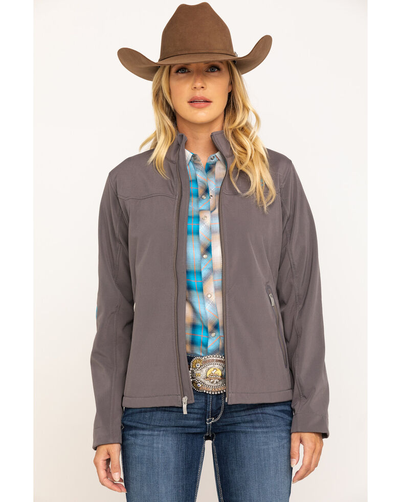 Ariat Women's Grey New Team Softshell Jacket , Grey, hi-res