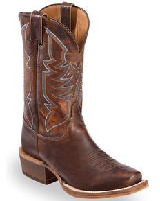 Justin Bent Rail Men's Navigator Western Boots - Square Toe, Brown, hi-res
