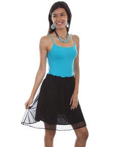 1e660298f3e Honey Creek by Scully Women s Black Swiss Dot Skirt