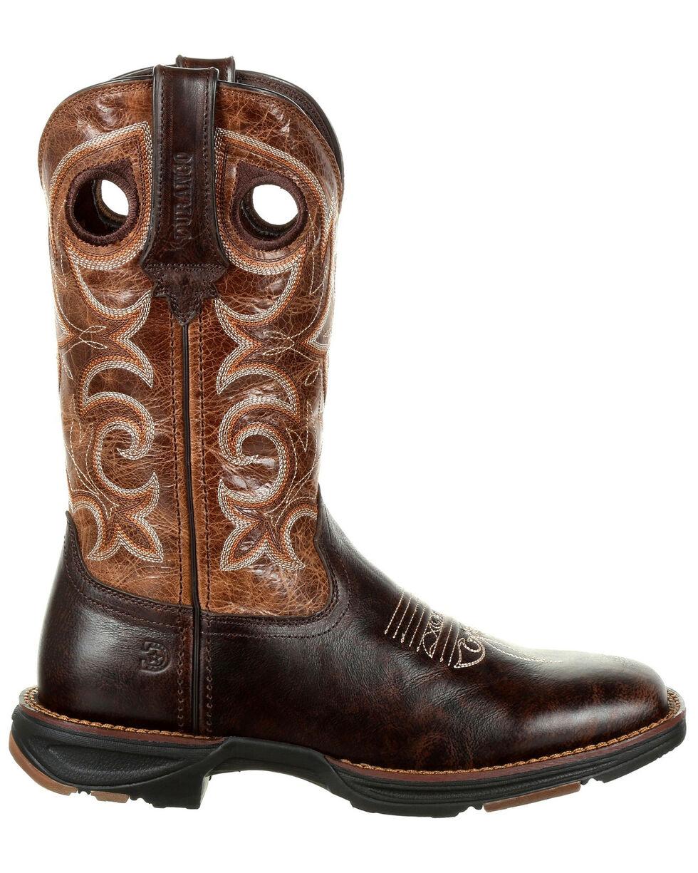 Durango Women's Ultra-Lite Western Boots - Square Toe, Cream/hunter, hi-res