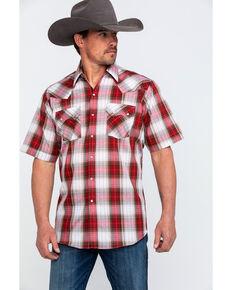 e316121a9c7 Ely Cattleman Men s Rust Plaid Short Sleeve Western Shirt