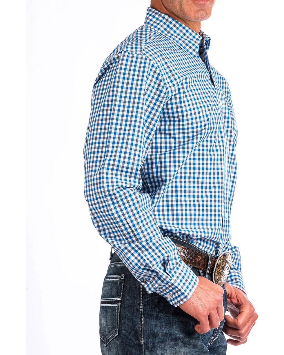 Cinch Men's White Plaid Modern Fit Shirt , White, hi-res