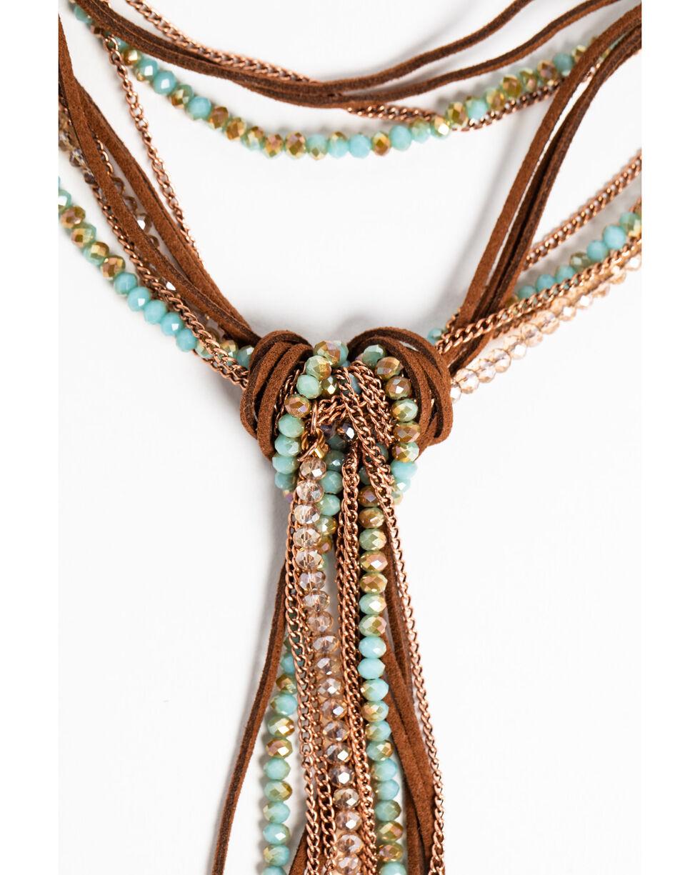 Shyanne Women's Wanderlust Layered Necklace & Earrings Set, Tan/copper, hi-res
