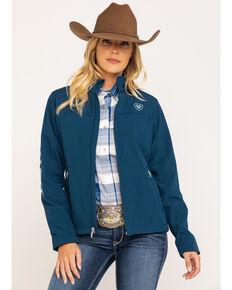 Ariat Women's Navy New Team Softshell Jacket , Navy, hi-res