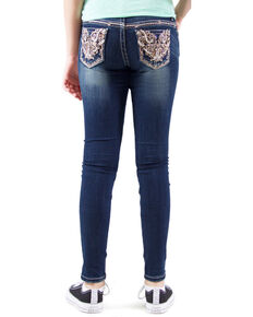 1a8d654b77c Grace in LA Girls Dark Wash Embellished Skinny Jeans