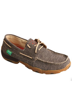 Twisted X Men's ECO Boat Shoe Driving Moc, Sand, hi-res