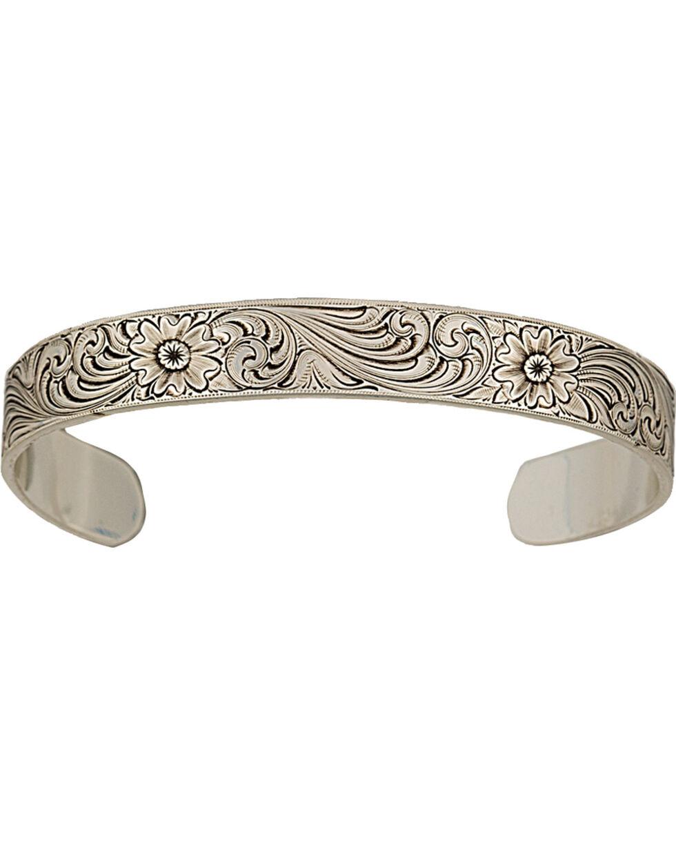 Montana Silversmiths Classic Engraved Narrow Cuff Bracelet, Silver, hi-res