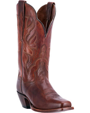 Dan Post Women's Hot Darby Square Toe Western Boots, Brown, hi-res