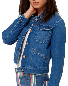 Wrangler Women's 70th Anniversary Cropped Denim Jacket, Indigo, hi-res