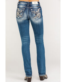 Miss Me Women's Lily Flower Bootcut Jeans, Blue, hi-res