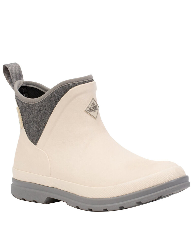 Muck Boots Women's Muck Originals Ankle Boots - Round Toe, White, hi-res