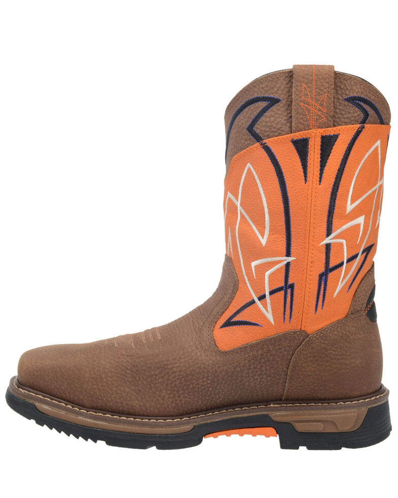 Dan Post Men's Orange Storm Surge Western Work Boots - Composite Toe , Orange, hi-res