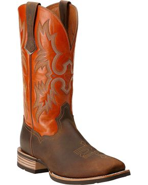 "Ariat Men's 13"" Tombstone Western Boots, Brown, hi-res"