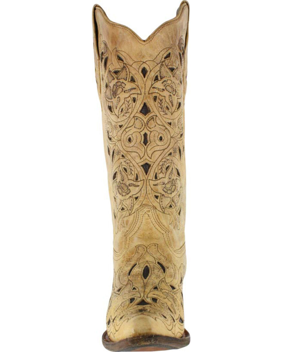 Corral Women's Inlay Snip Toe Western Boots, No Color, hi-res