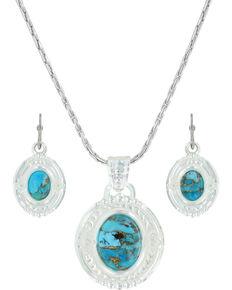 Montana Silversmiths Women's Glacier Pools Jewelry Set, Silver, hi-res