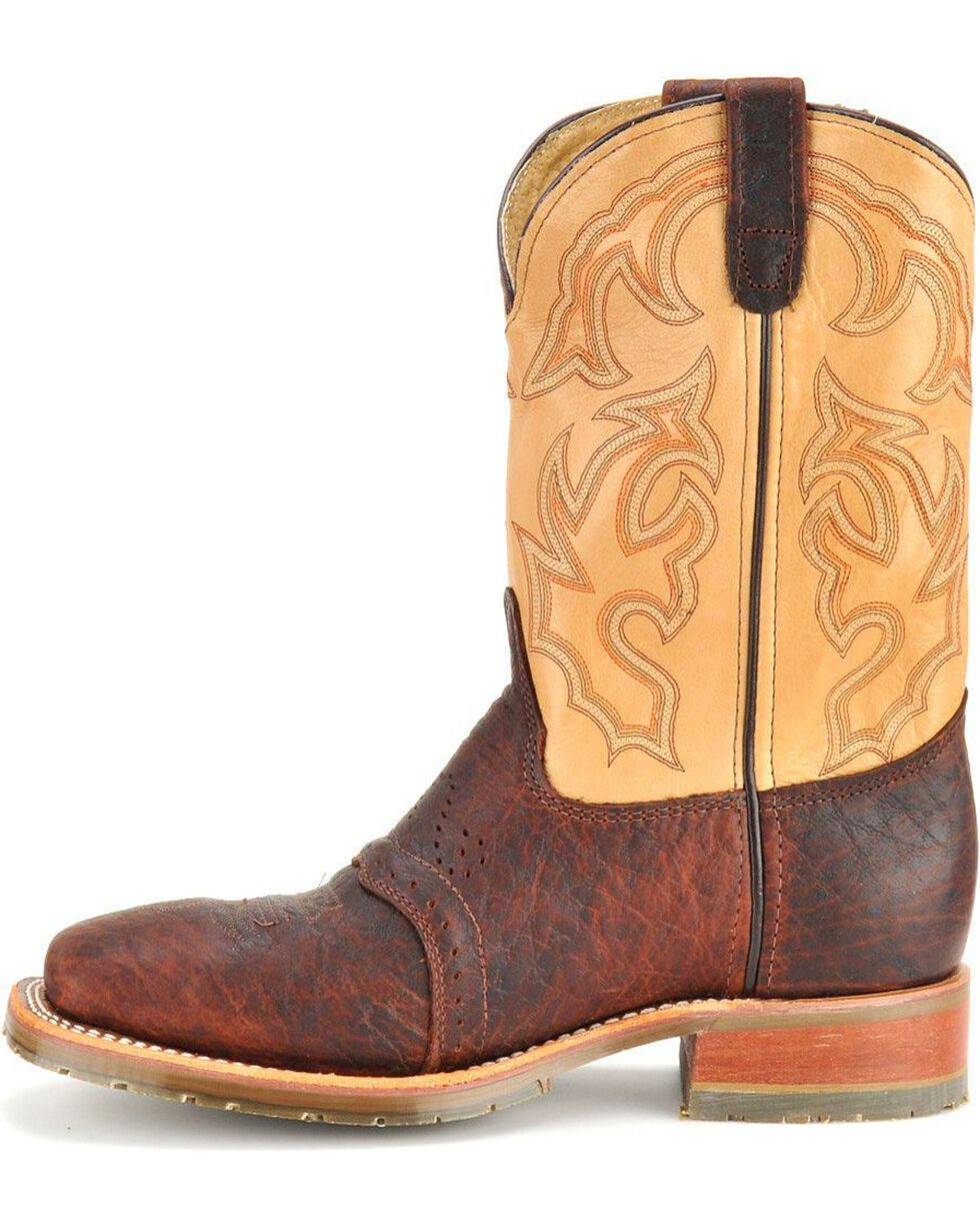 Double-H Men's Square Steel Toe Western Boots, Bison, hi-res
